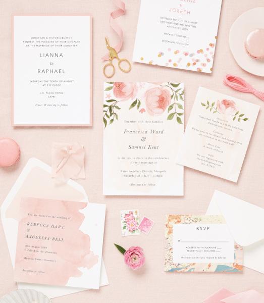 Papier blush stationery