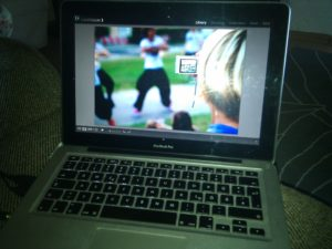 MacBook Pro running Adobe Photoshop Lightroom 3