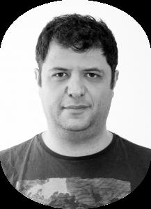 Black and white photo of Daniel