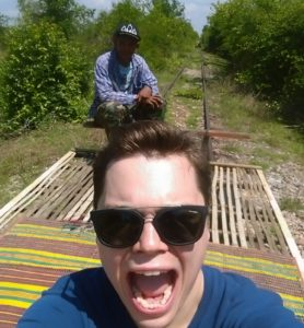 On the bamboo train in Hội An, Vietnam