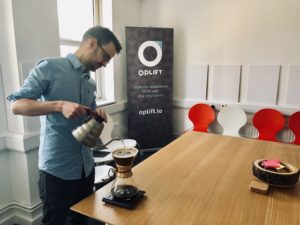 Making coffee using a chemex pour over
