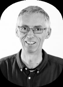 Black and white photo of Martin