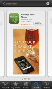 Beer Finder App Showing Up in Search Results of the Apple App Store
