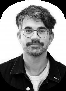 Black and white photo of Sean