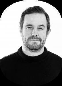 Black and white photo of Steve