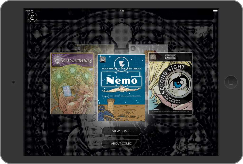 Electricomics iPad App
