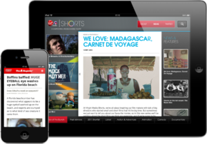 Virgin Media Shorts in iPad and The Register on iPhone