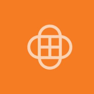 Capsule eLearning app logo on a orange background