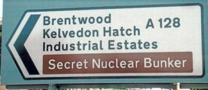 Secret Nuclear Bunker Signpost