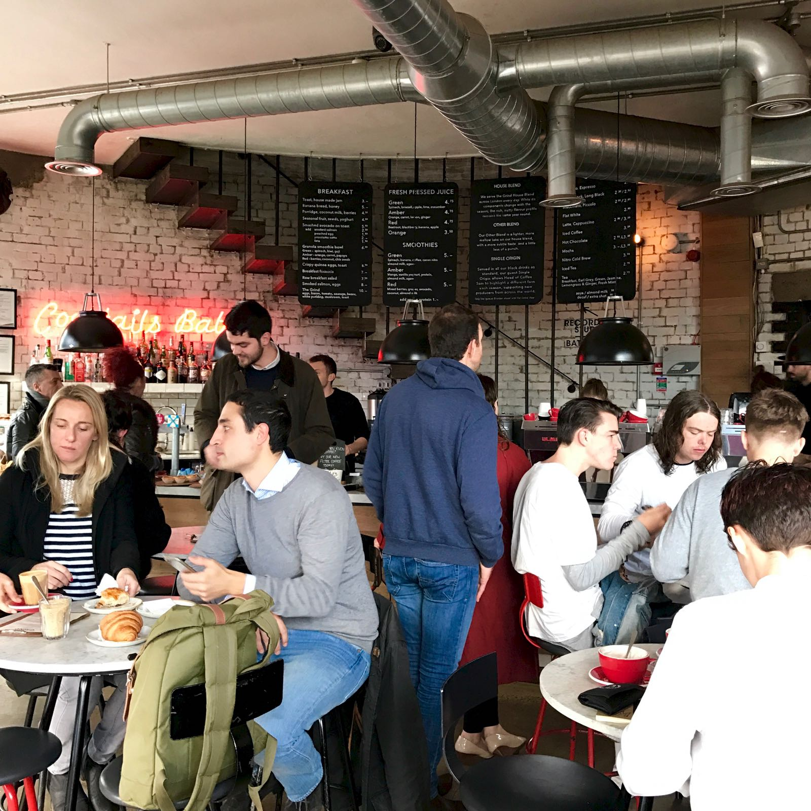 Shoreditch Grind 店内の様子