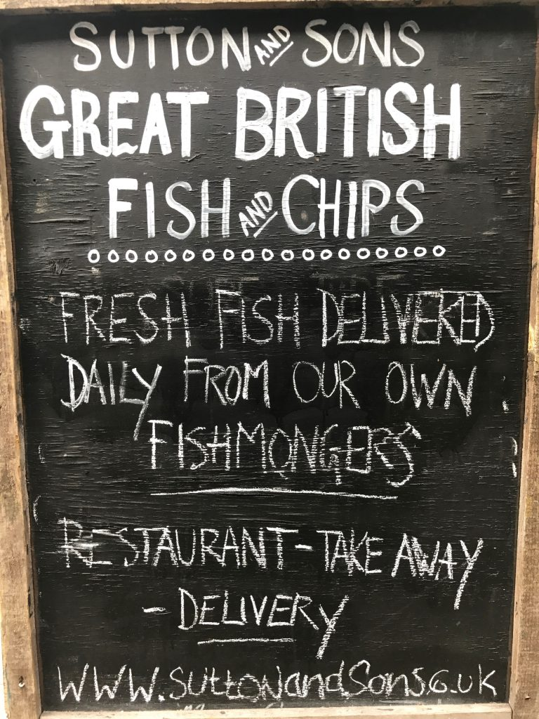 Sutton and Sons Fish and Chips, outside