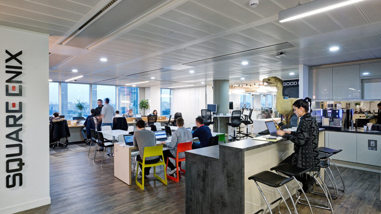 office design and fit out for square enix