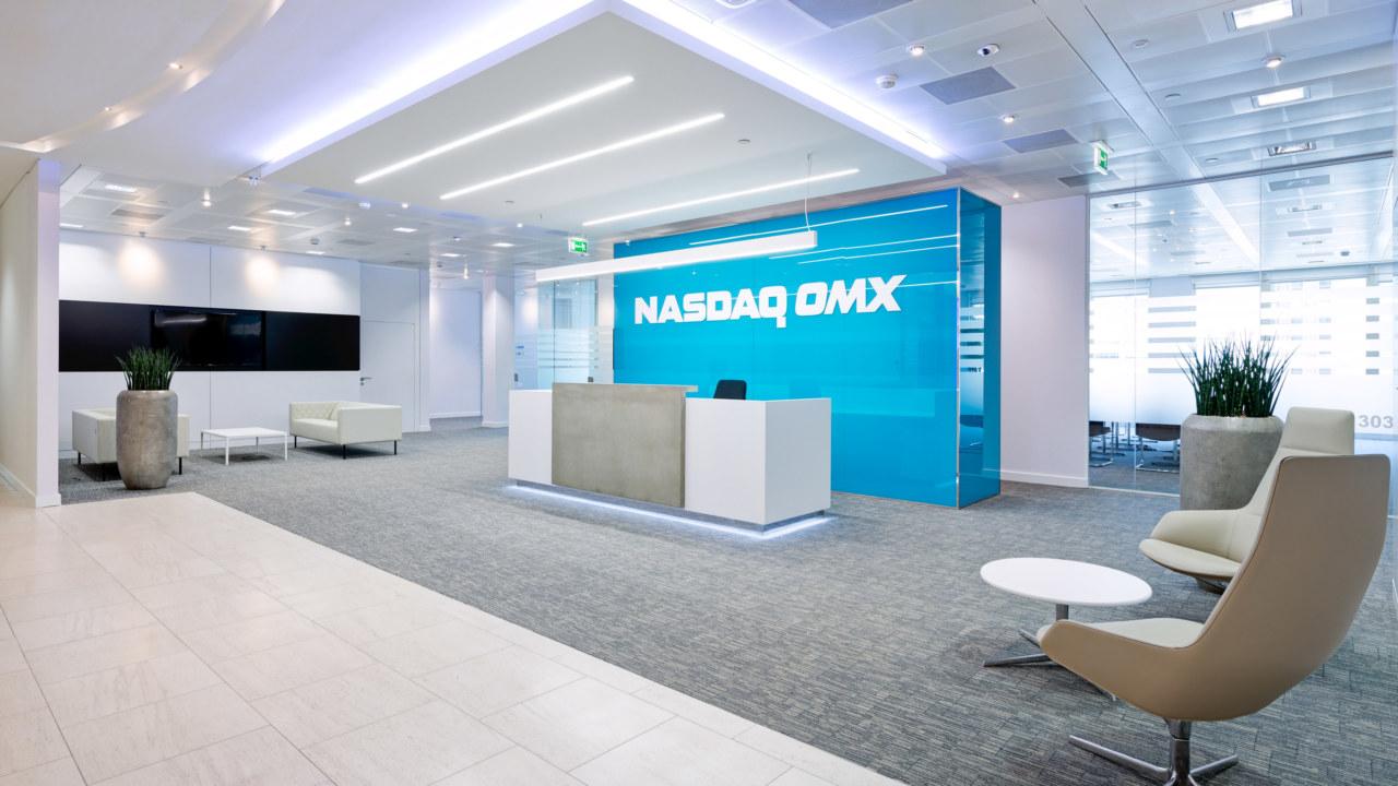 Reception office design for Nasdaq