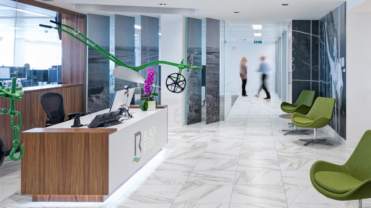 Office reception design for Black river