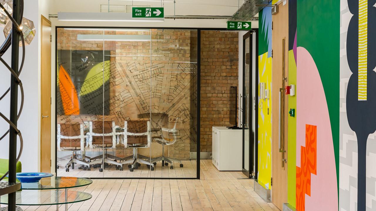 office design for financial firm Omidyar