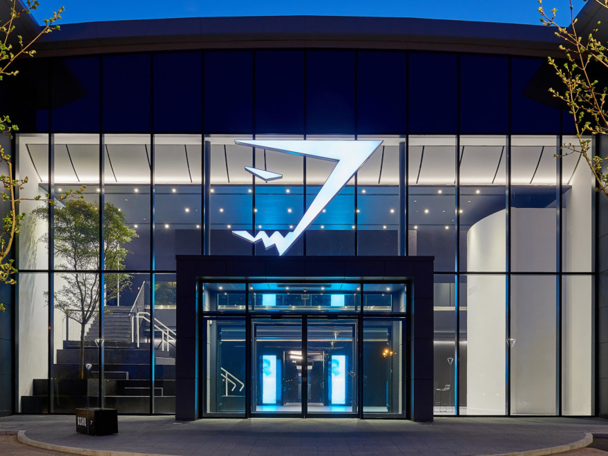 Exterior workplace design for Gymshark