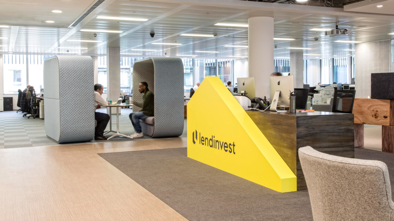 Reception office design for Lendinvest