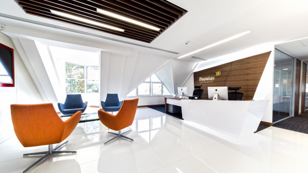 reception office-design for premier-asset