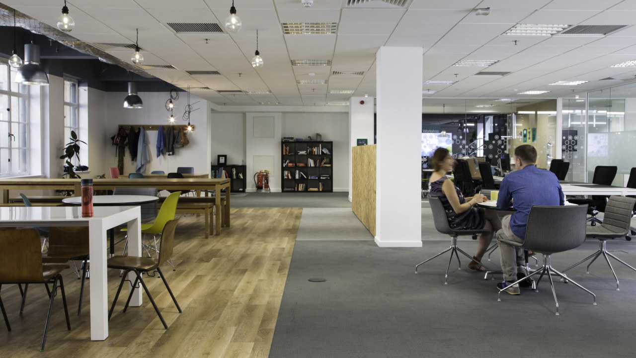 office design and build for moonfruit and hibu