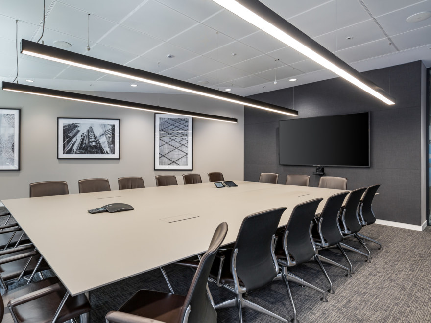Meeting room office design for Charles Taylor