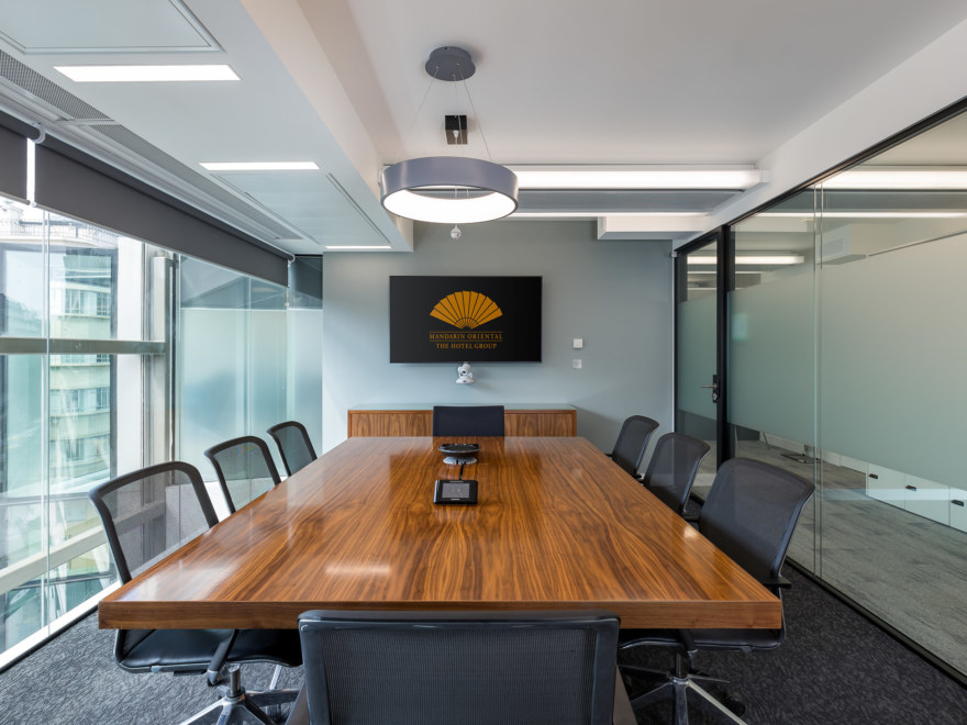 Boardroom office design for Mandarin Oriental