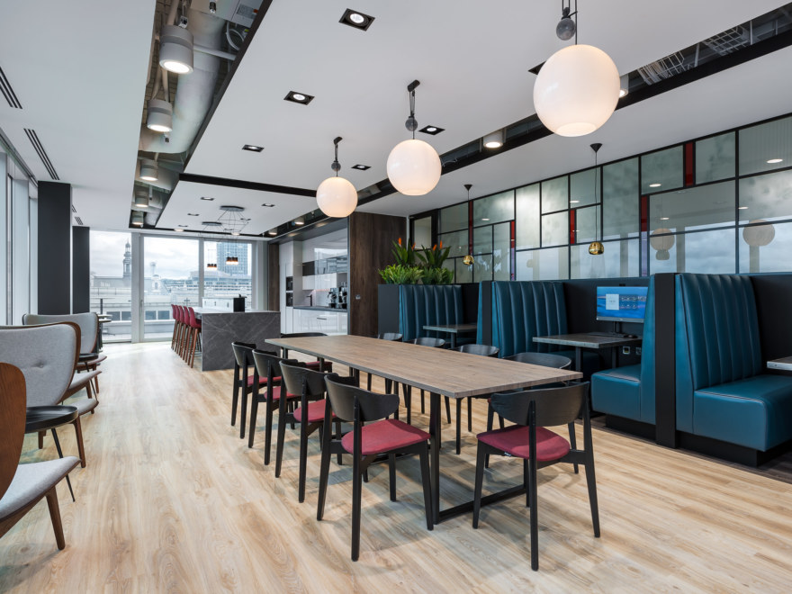 Breakout area and booths design for Boult Wade Tennant