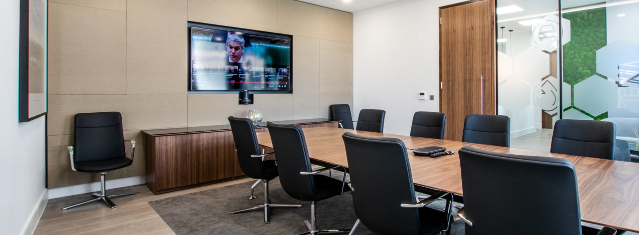 Boardroom design for Iona Capital by Oktra