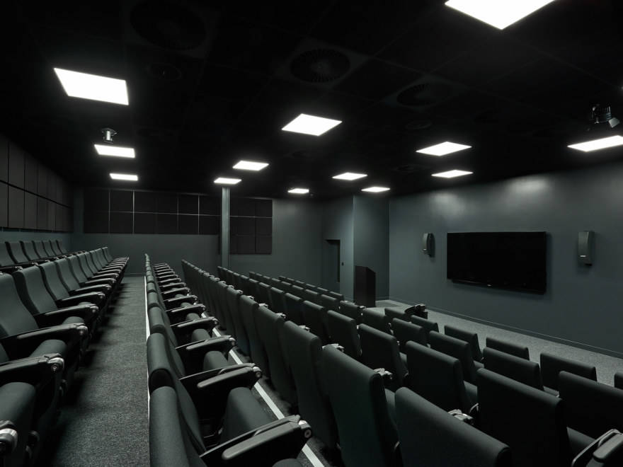 Auditorium room at Gymshark lifting club