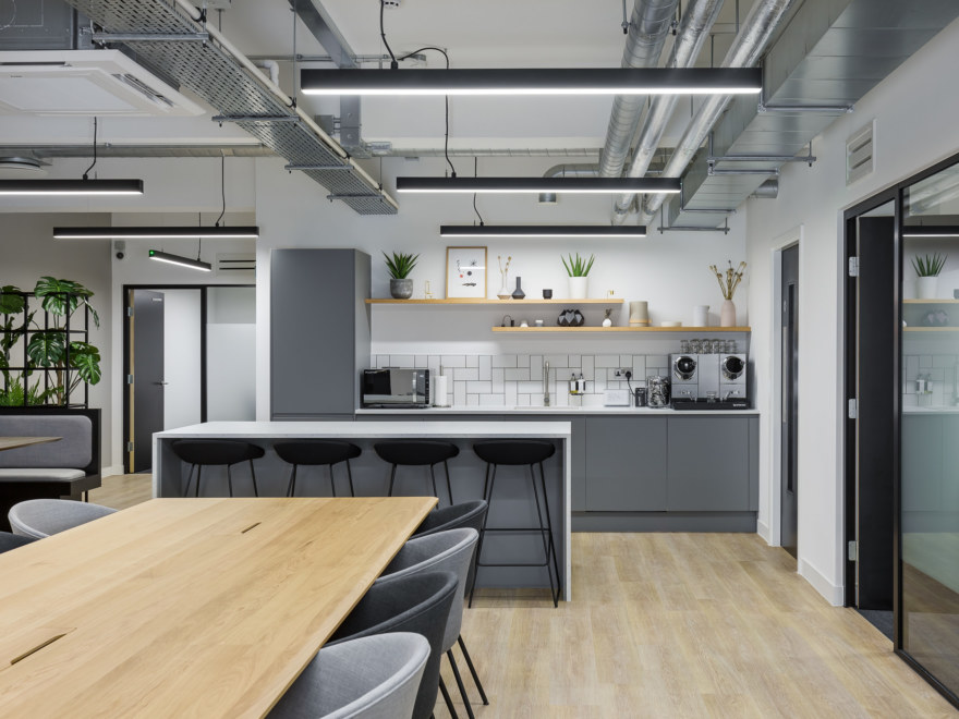 Teapoint area at a coworking space