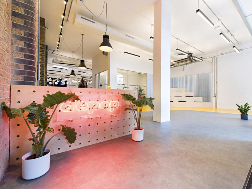 Office reception design at Depop