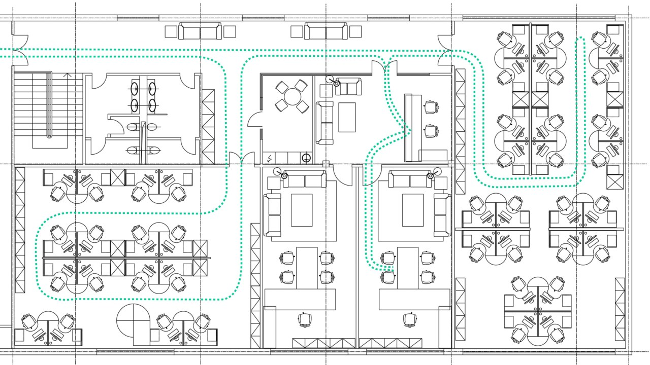 Office space layout