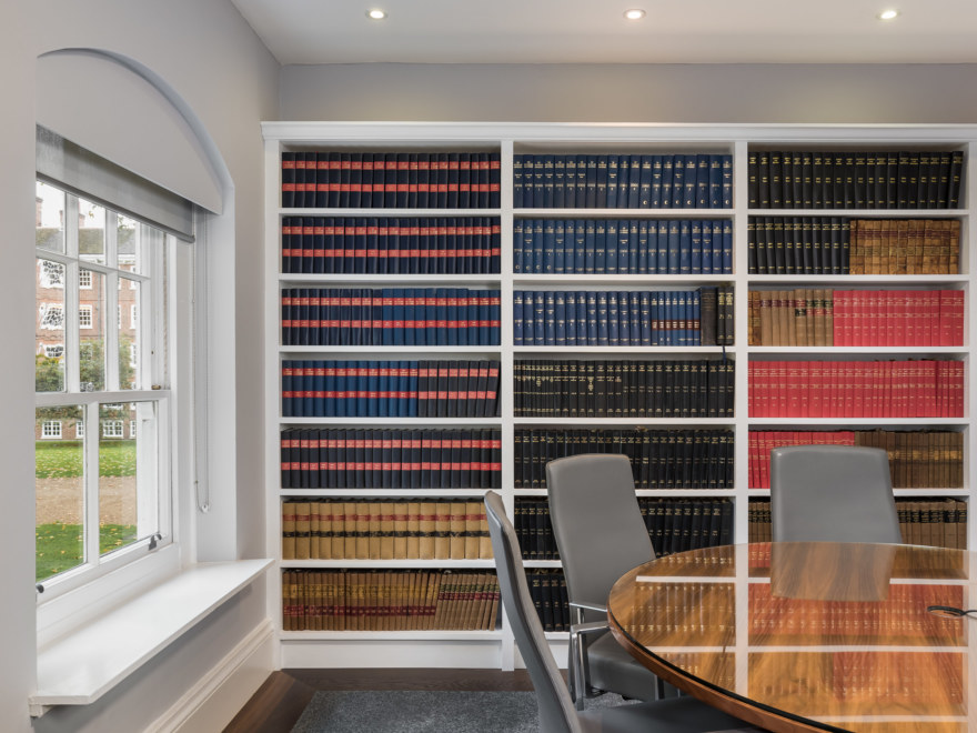Meeting room design for a law firm