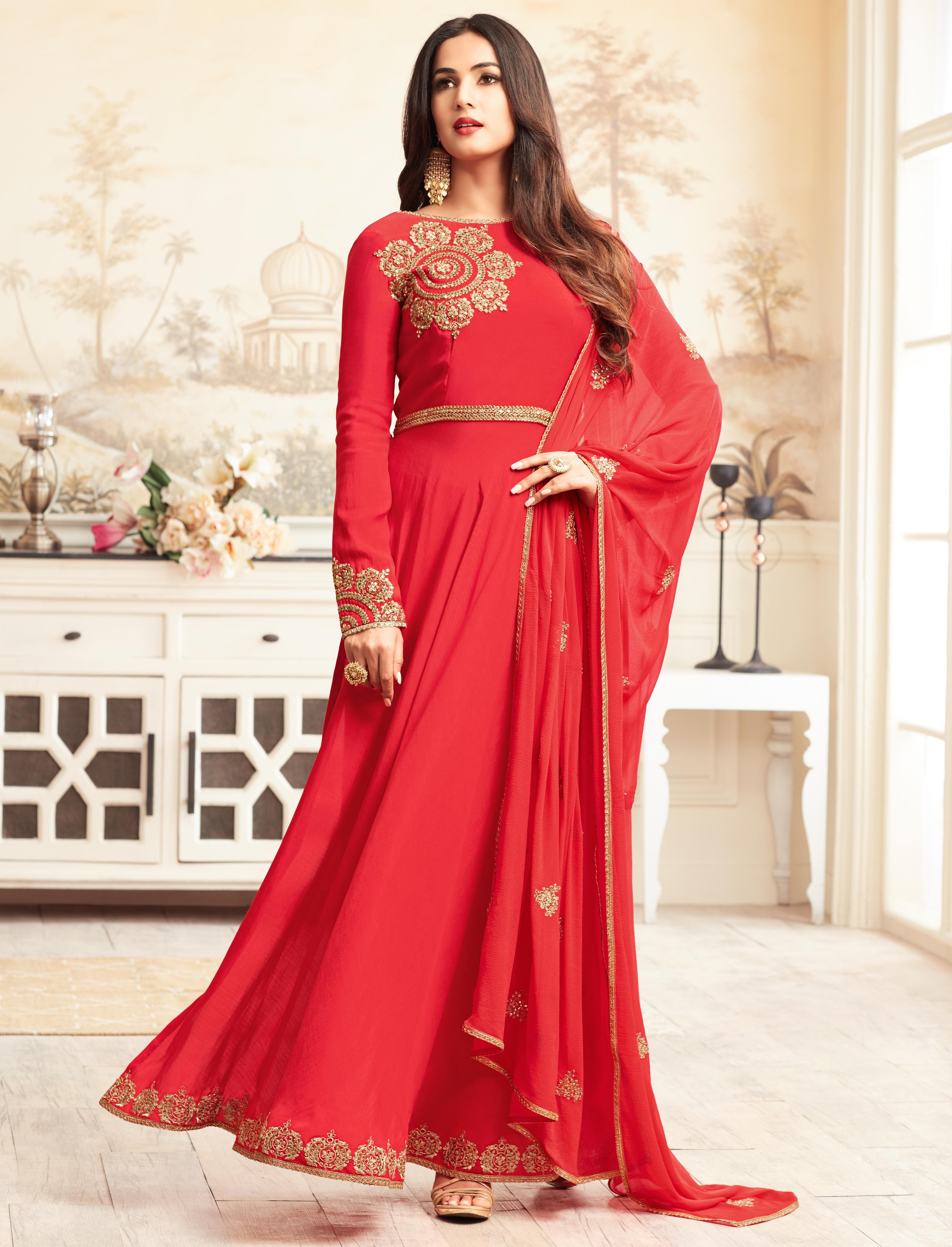 Индийский Платья Красный