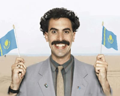 Borat anthem stuns Kazakh gold medallist in ...