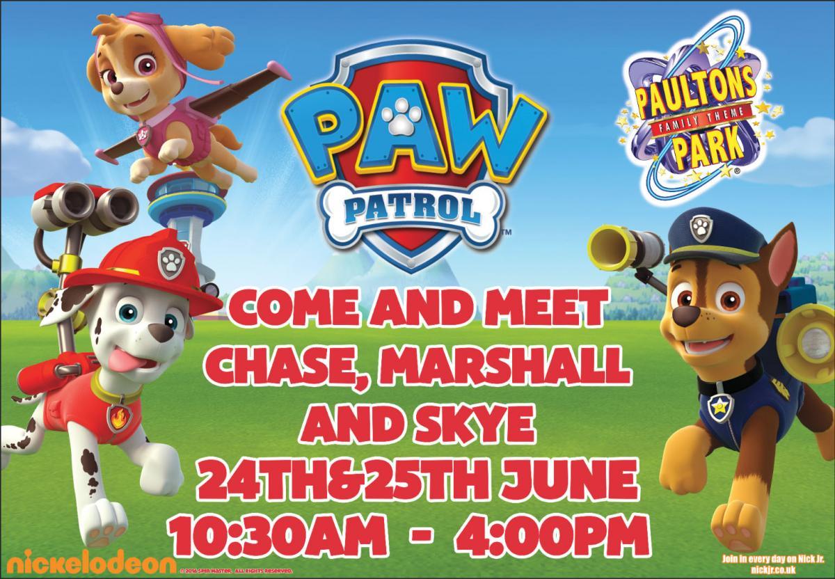 PAW Patrol visit Paultons Park