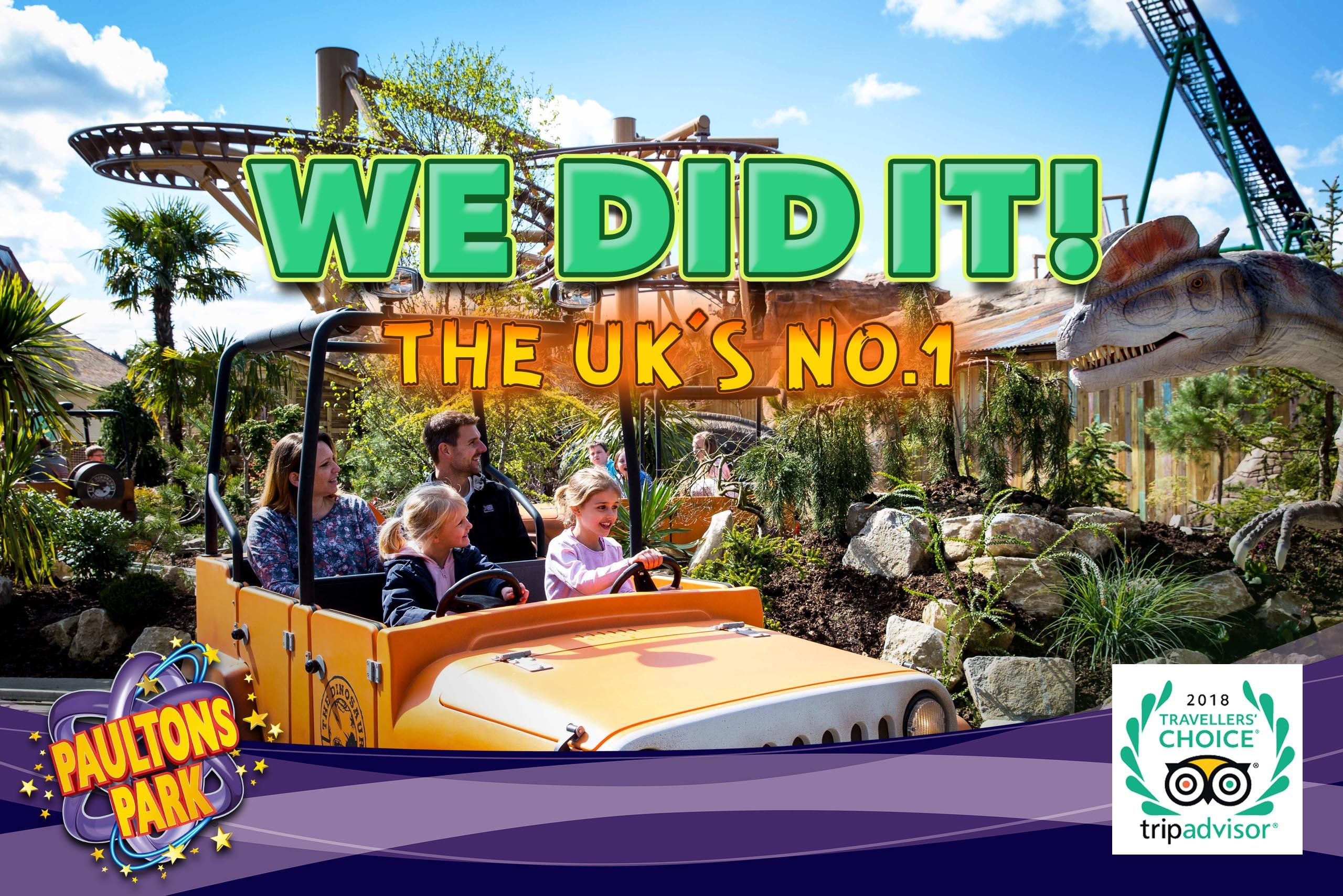 PAULTONS PARK IS NAMED THE UK'S BEST-RATED AMUSEMENT PARK