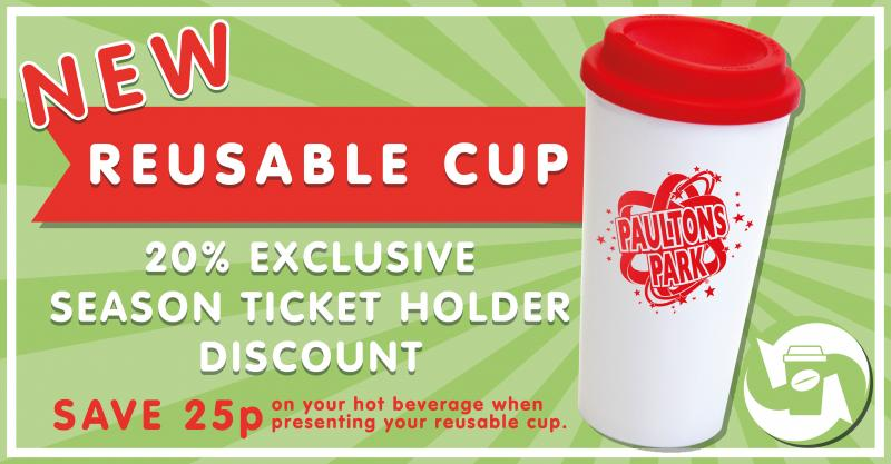 New re-usable coffee cups now on sale at Paultons Park!