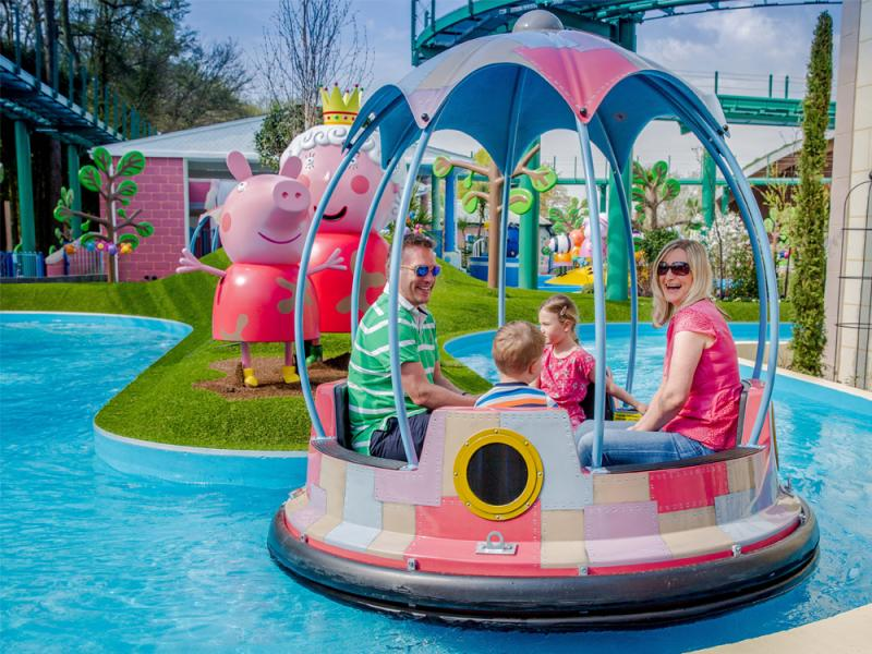 Grampy Rabbits Sailing Club in Peppa Pig World at Paultons Park