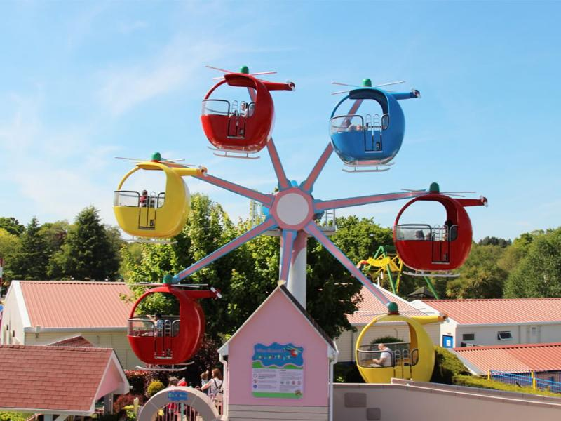 Miss Rabbit's Helicopter Ride in Peppa Pig World at Paultons Park