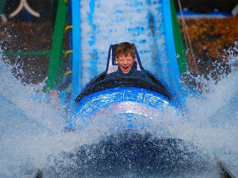 Raging River Log Flume Ride at Paultons Park