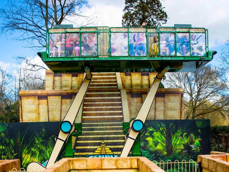Temple Heights in Lost Kingdom at Paultons Park