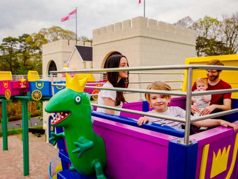 The Queens Flying Coach Ride in Peppa Pig World at Paultons Park