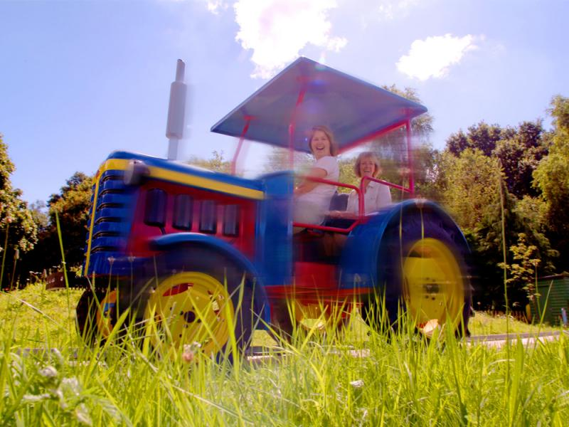 Trekking Tractors in Tornado Springs at Paultons Park