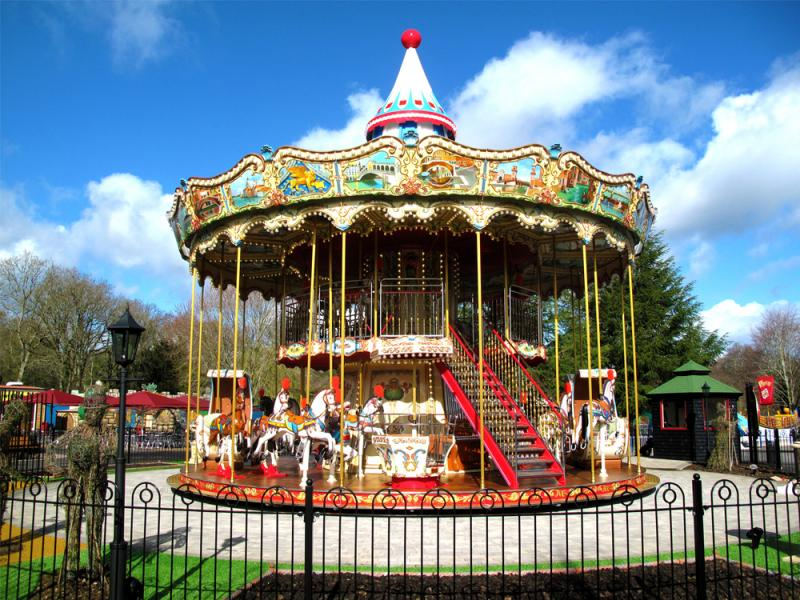 Victorian Carousel Ride at Paultons Park