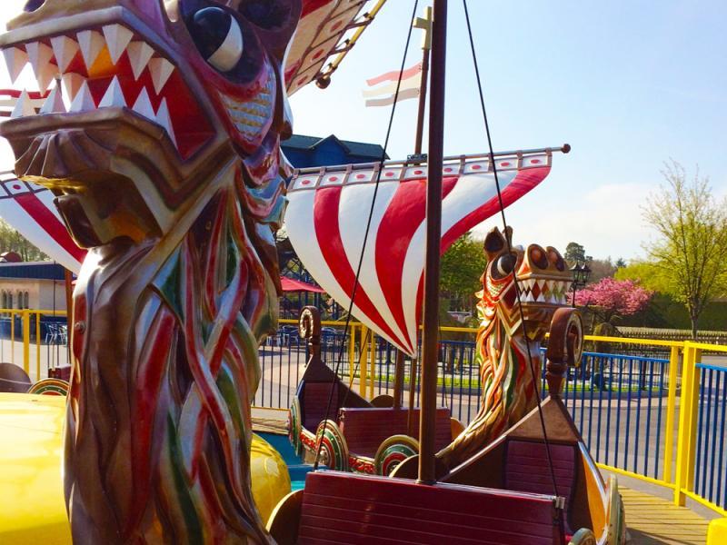 Viking Boats at Paultons Park