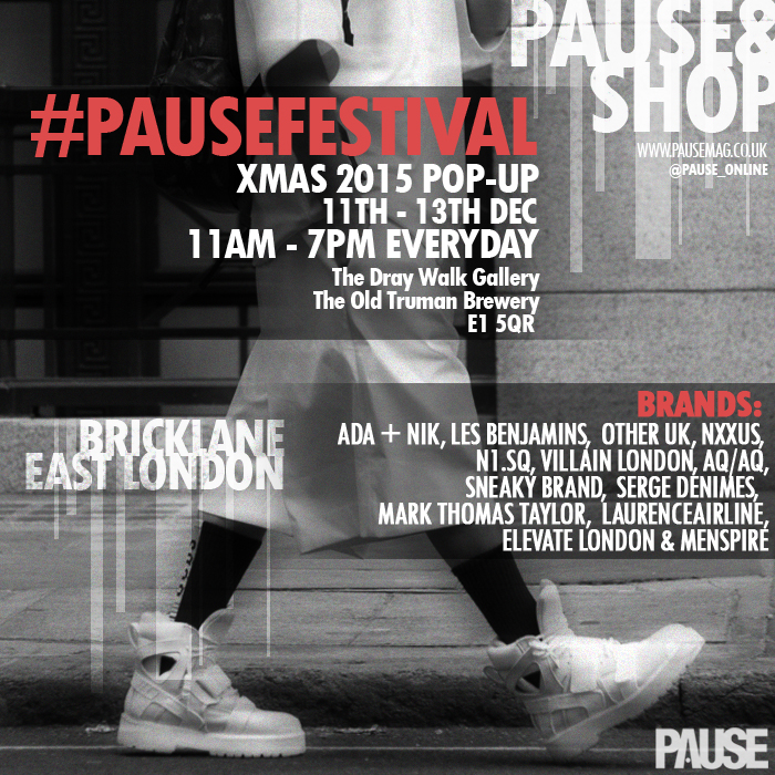PAUSE Festival – Xmas 2015 Pop-Up