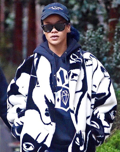 Spotted: Rihanna wearing a Rebel8 hoodie