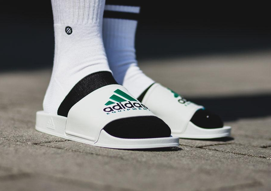 Adidas Adilette Equipment White Slides