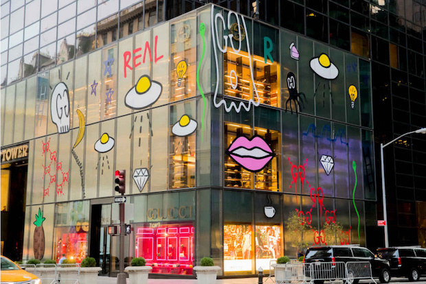"""GucciGhost """"Tags"""" Gucci's New York Flagship"""
