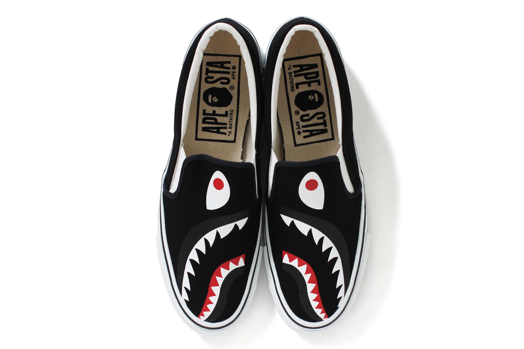 BAPE Releases Shark-Inspired Slip-On